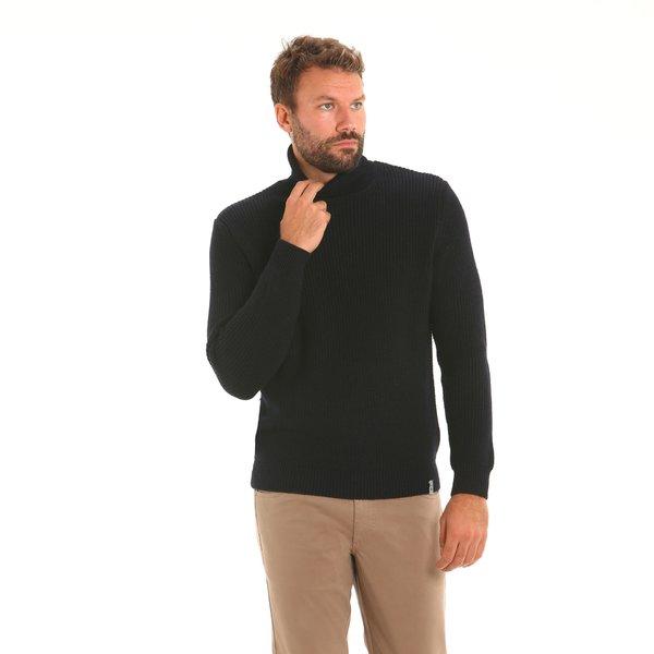 Italian-made merino blend polo-neck Men's jumper F57