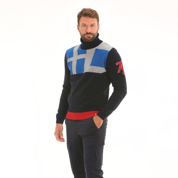 Suéter hombre F78 en suave lana de cordero