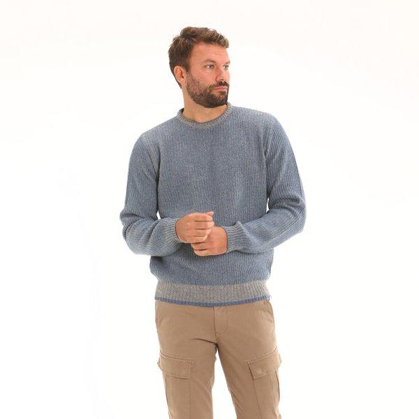 Italian-made lambswool blend crew-neck Men's jumper F54