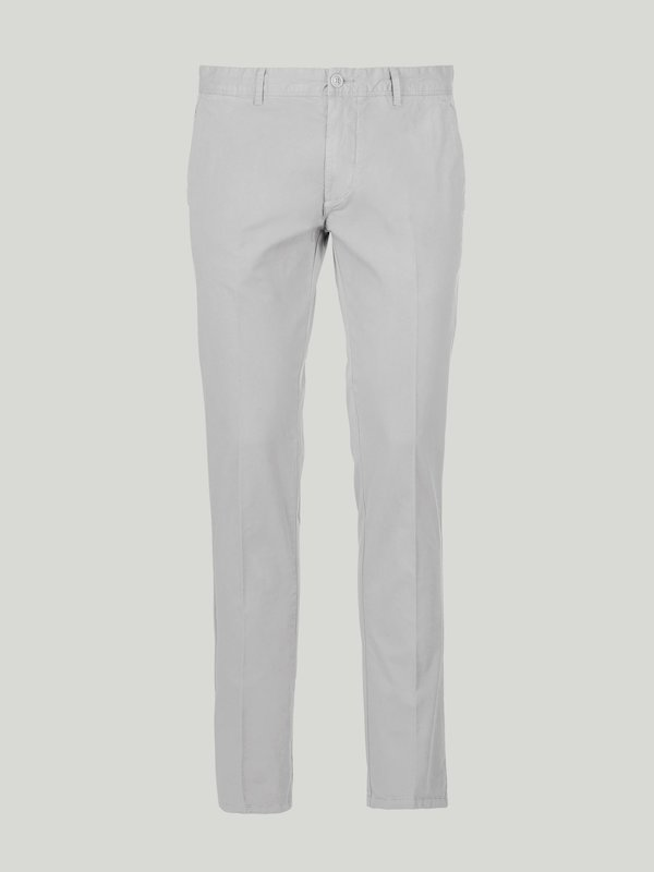 Herren Chino-Hose aus einfarbiger Baumwolle