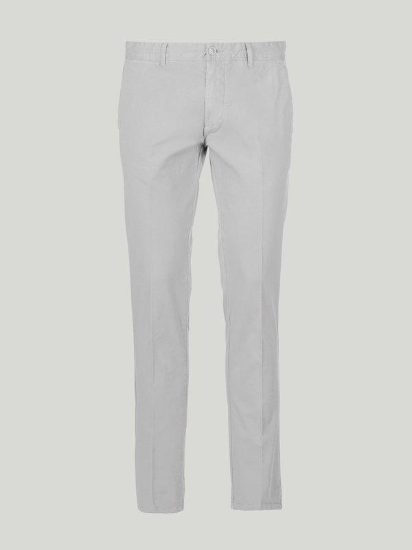 Pantalon chino en coton de teinte unie homme