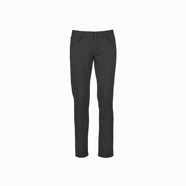 Solid-colour 5 pocket men trousers in stretch cotton twill