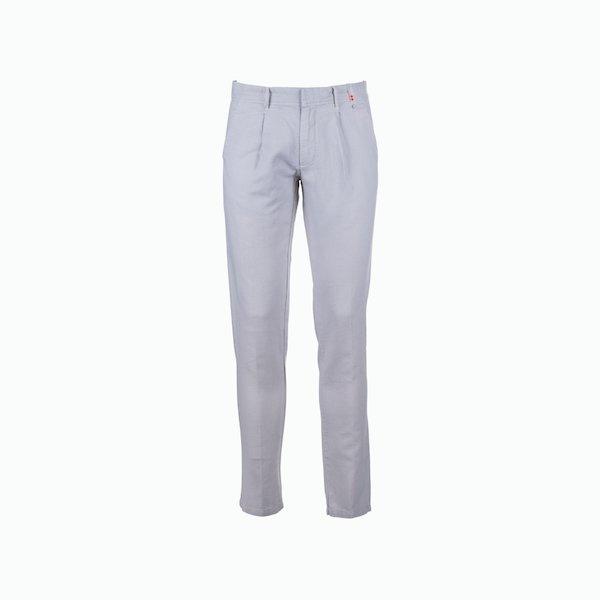 Pantalón hombre C57 mixto de lino ajuste apretado