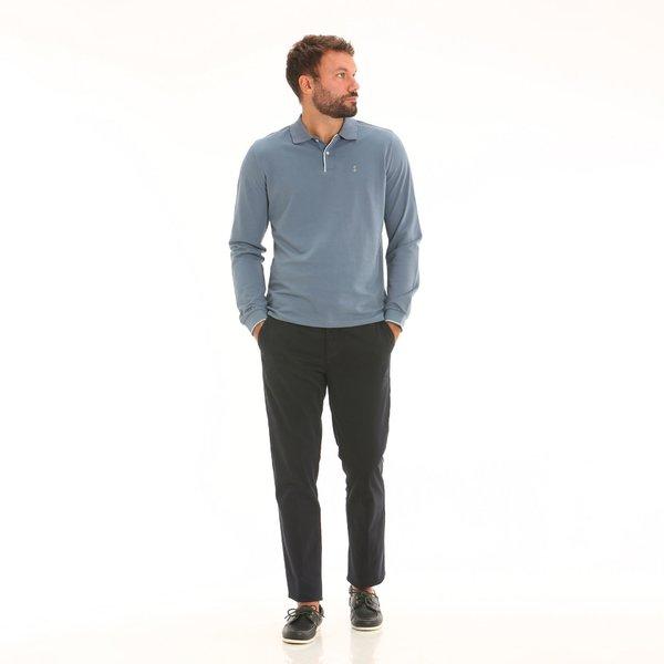 Pantalone chino da uomo in twill di cotone elasticizzato