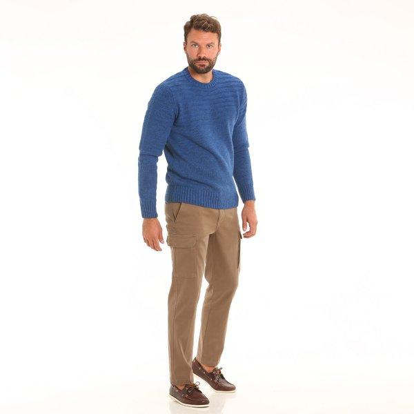 Pantalone uomo F164 cargo in cotone elasticizzato