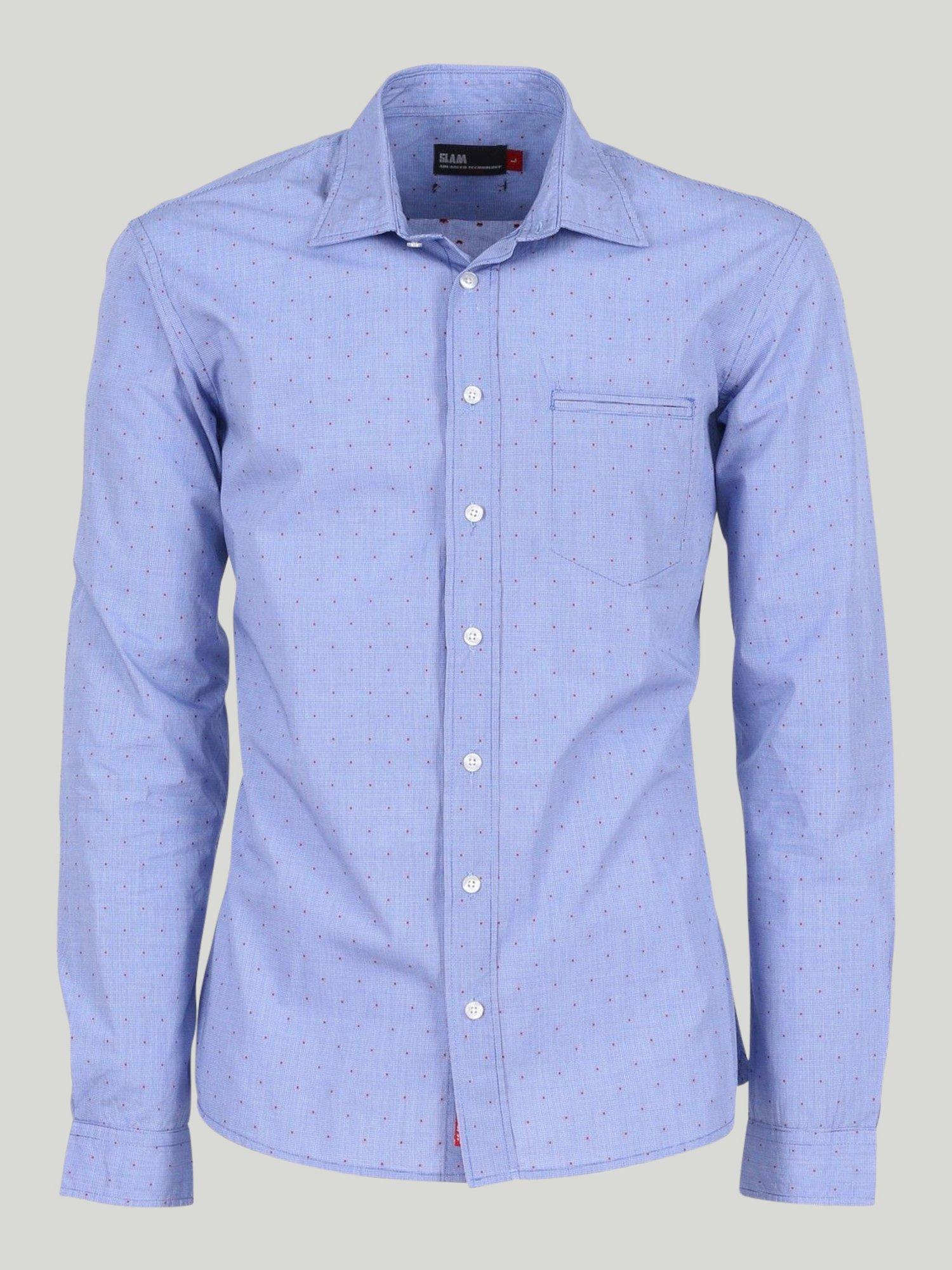 Founder shirt - Microcheck Blue / White