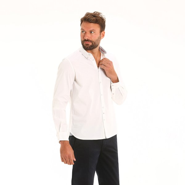 Camicia uomo B12 in manica lunga con colletto