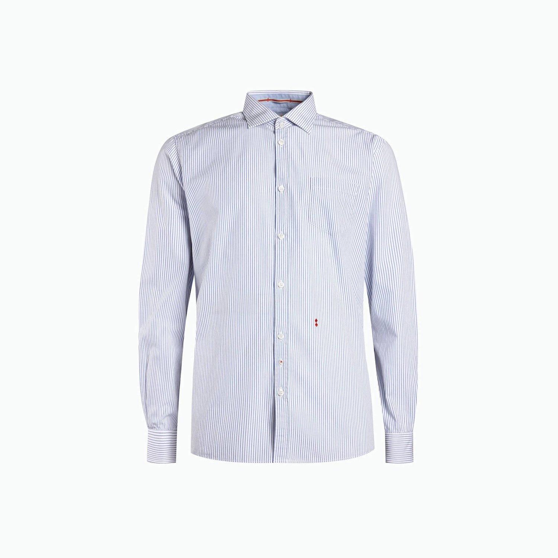 Camisa B13 - Blanco / Azul Claro