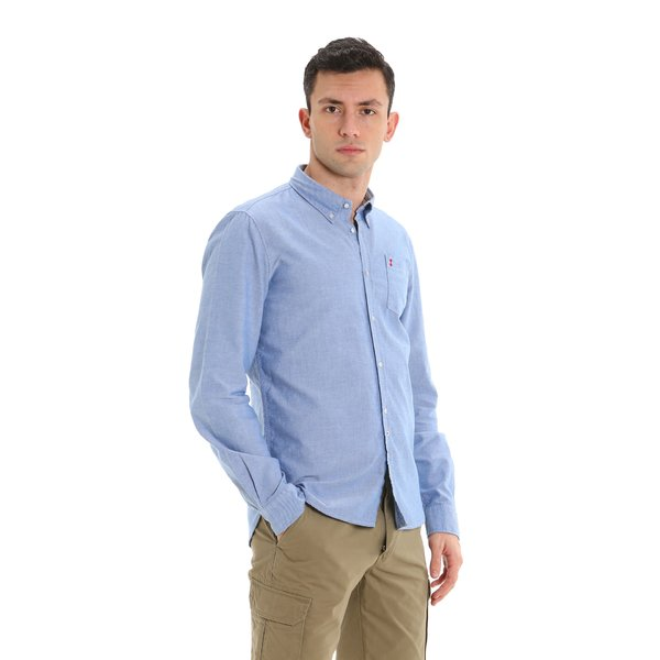 Camisa de hombre B75 de algodón elástico