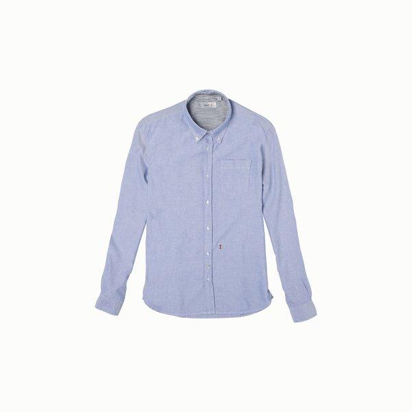 Langärmliges Herrenhemd B75 aus Oxford-Piquet