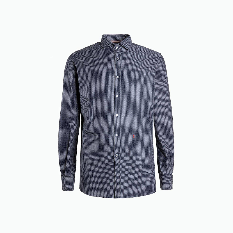 B161 shirt - Navy Pattern