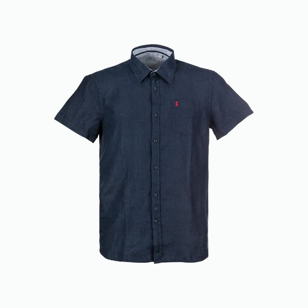 Short-sleeved Linen Man Shirt C18
