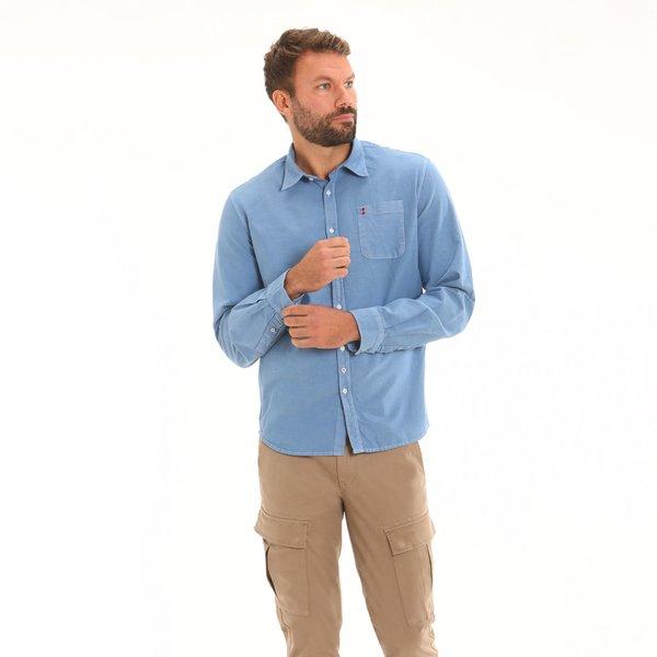 Camicia uomo D252 con manica lunga con colletto all'italiana