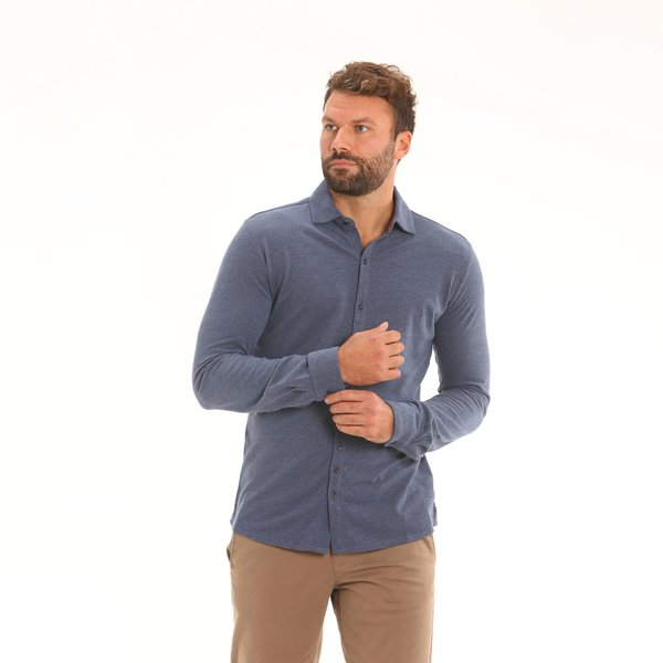 Casual shirt E133 in Oxford Cotton Piquet