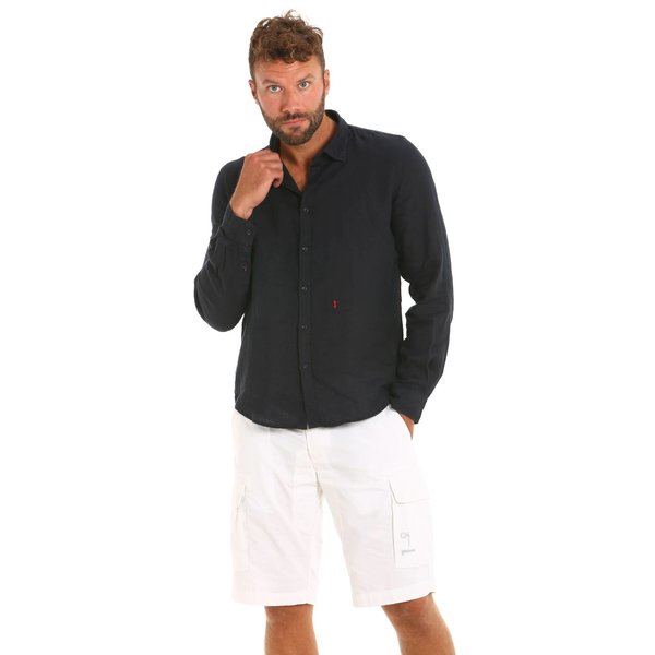 Long-sleeved Linen Men's shirt E132