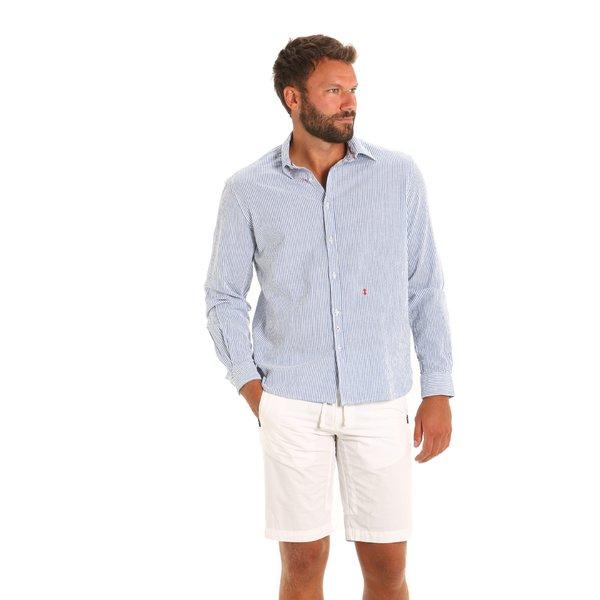 Camisa E130 para hombre de manga larga en algodón