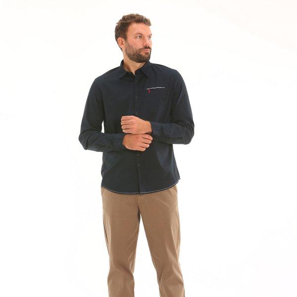 Camicia uomo F146 a manica lunga con colletto all'iitaliana