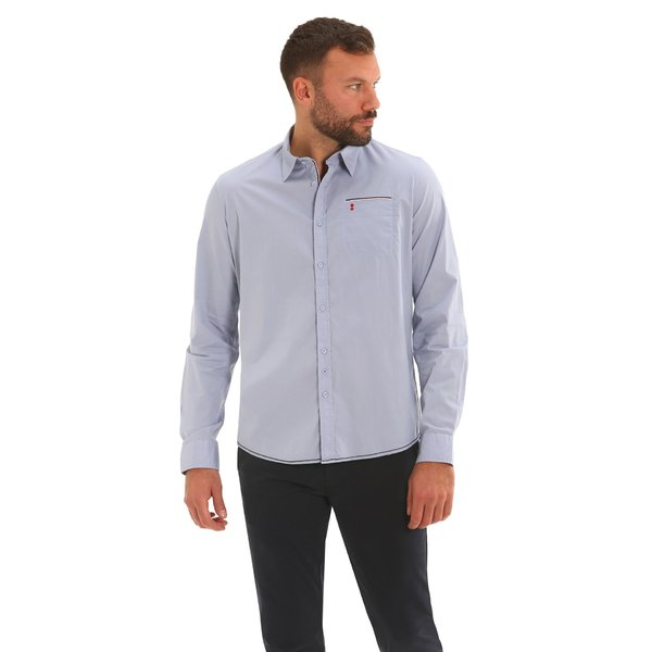 Men shirt F146 long-sleeve shirt in stretch poplin