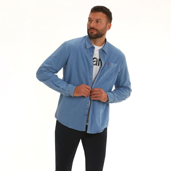 Men shirt F142 long-sleeve shirt in oxford cotton