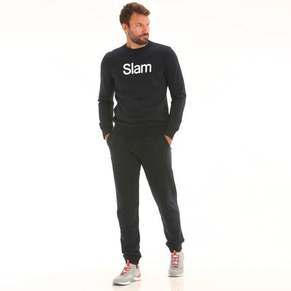 Pantaloni uomo D165 in felpa con coulisse elastica