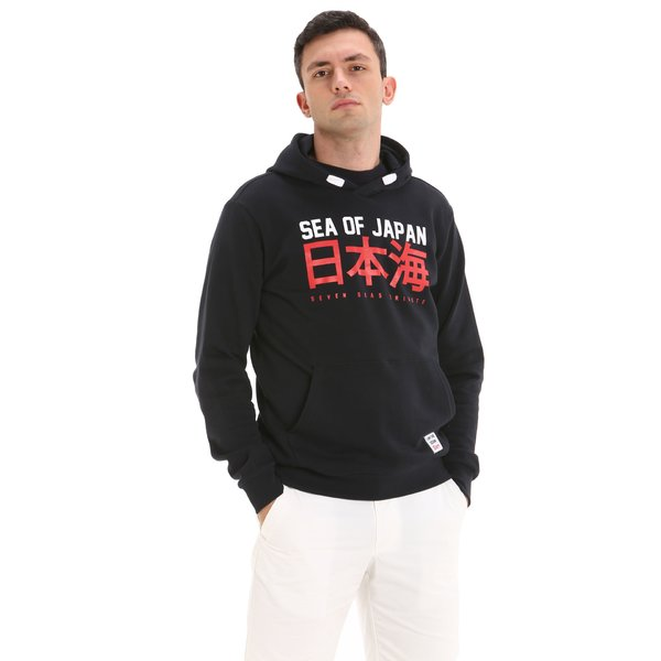 Sudadera para hombre E62 en algodón con capucha y amplio bolsillo central
