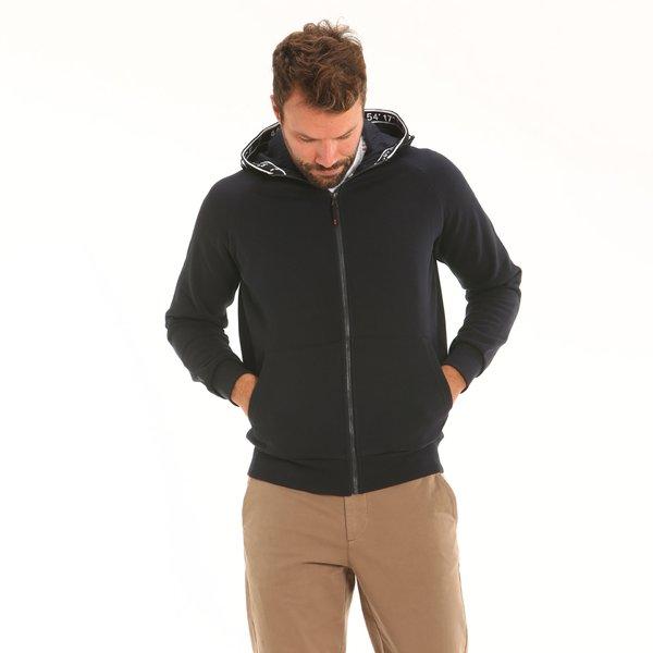 Herren-Sweater F90 aus Baumwolle mit regulierbarer Kapuze