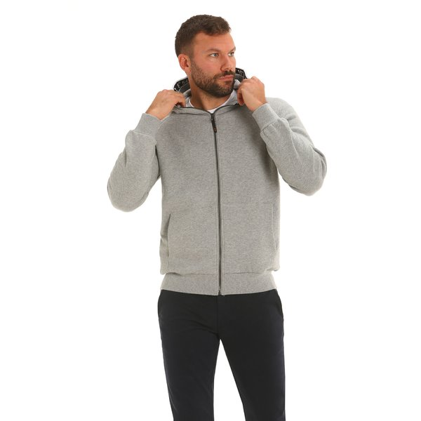 100% cotton Men's sweatshirt F90 with adjustable hood