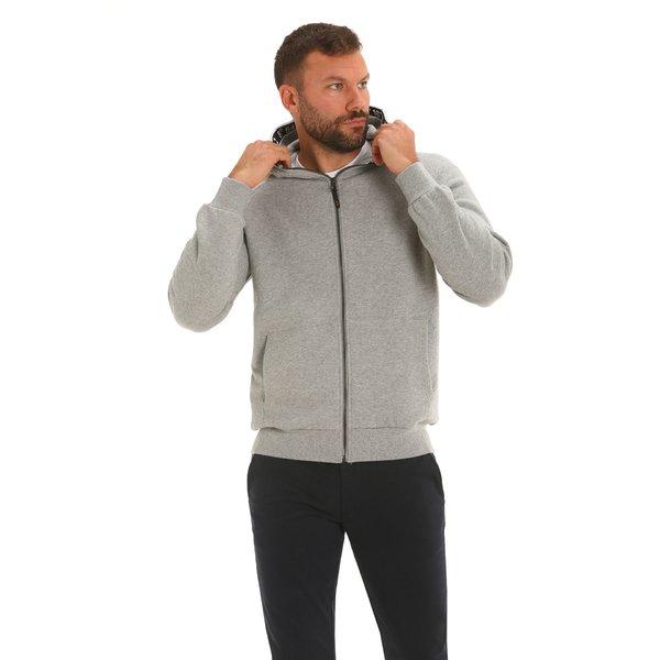 Felpa uomo F90 100% cotone con cappuccio regolabile