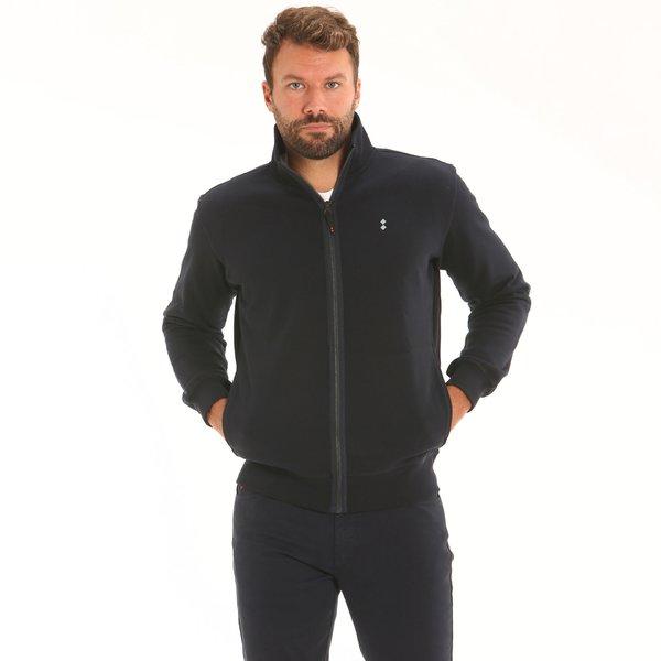 Herren Track Top-Sweater F96 aus Baumwolle mit Reißverschluss