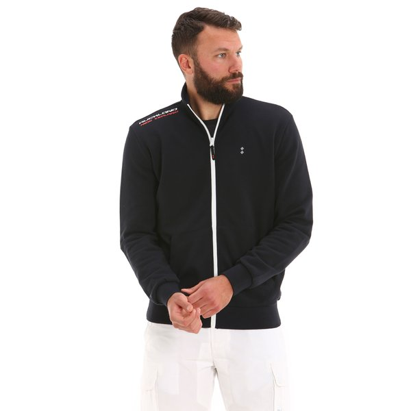 G555 men's full-zip cotton sweatshirt with central pocket