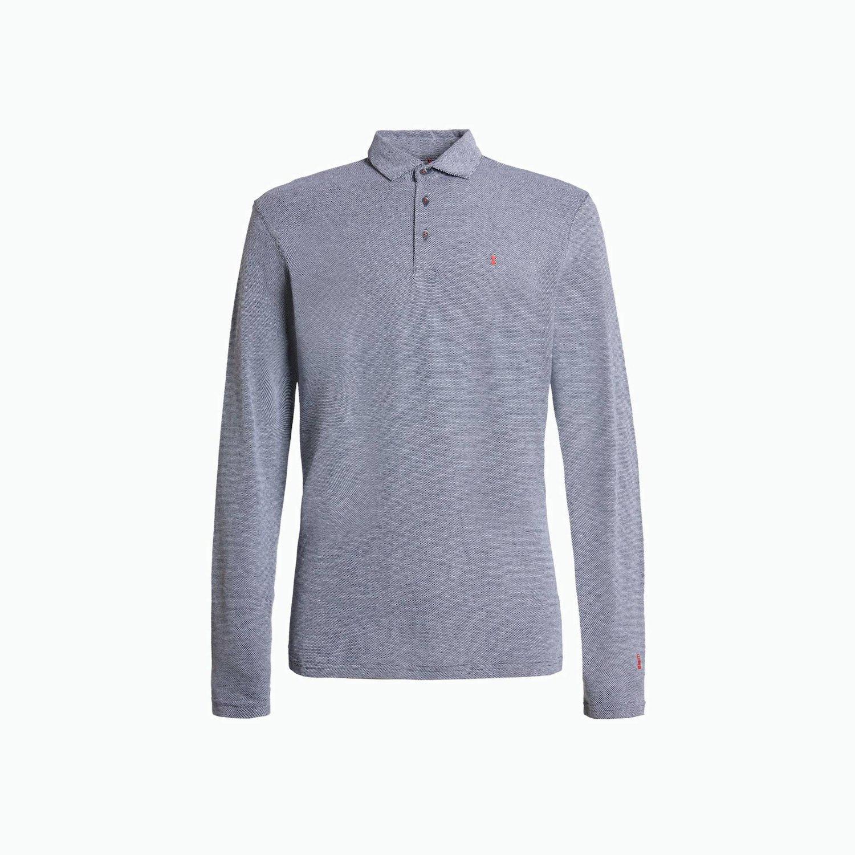 B162 polo shirt - Navy / White