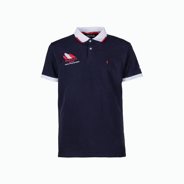 C77 Men's Polo Shirt in Cotton with different-colored collar