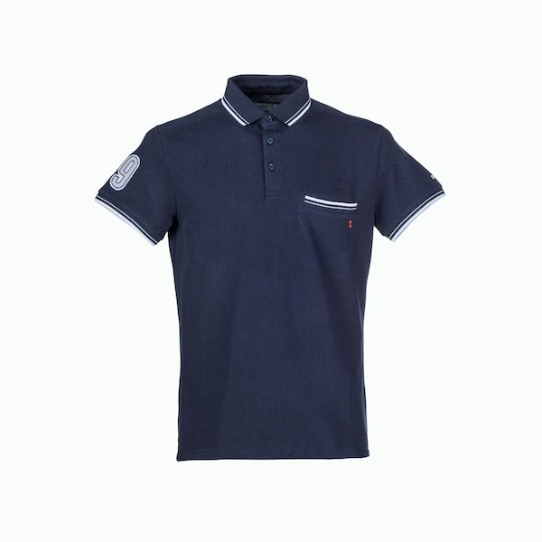 Men's C78 3-button polo shirt with an embroidery on the right