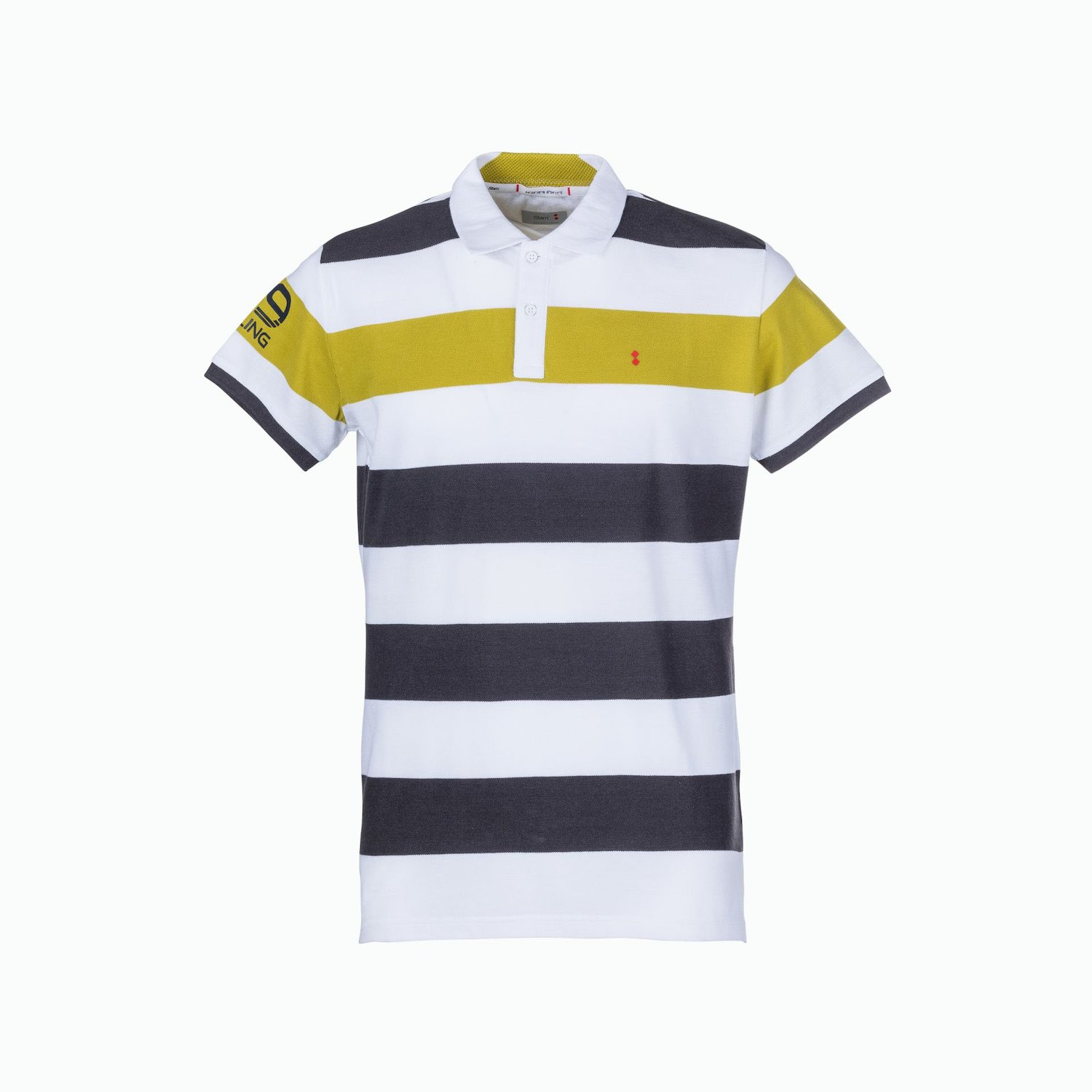 C81 Polo - Multi Stripe Anthracite