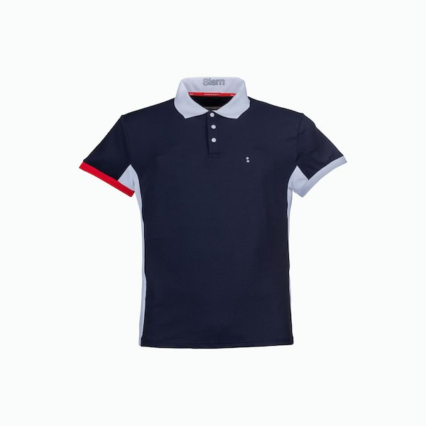 Men's Polo shirt C211 with drain off cut on the back