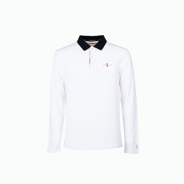 Long sleeve men's polo shirt 40th anniversary