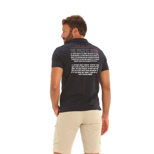 Kurzärmliges Herren-Poloshirt E82 aus elastischer Baumwolle