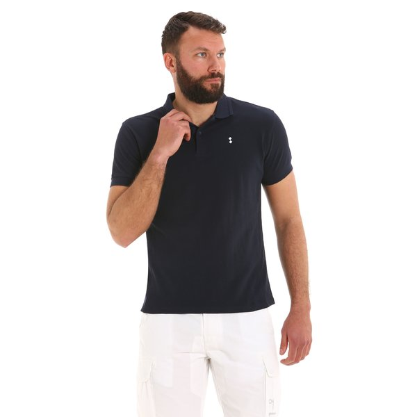 Men's polo shirt E72 in Cotton with 2 buttons and short sleeves