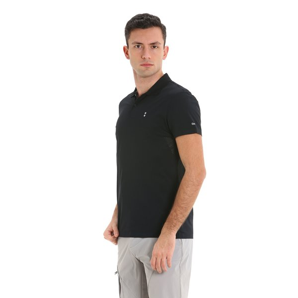 E94 men's short-sleeved polo shirt in technical nylon pique