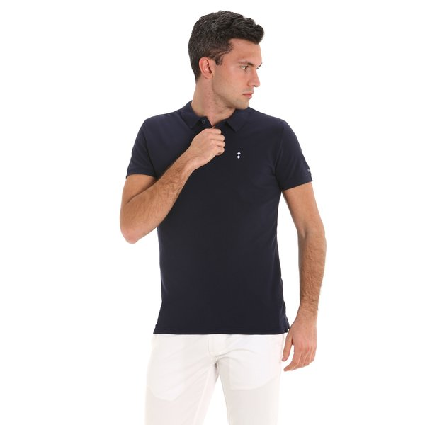 E90 men's short-sleeved cotton polo shirt