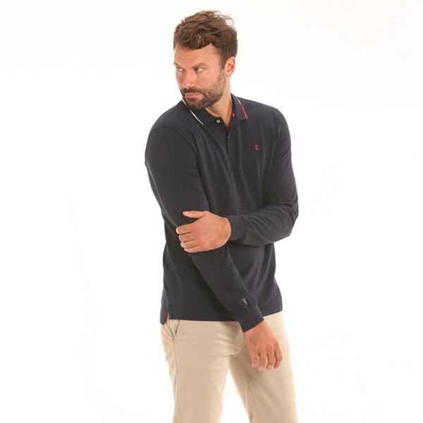 Men polo shirt Stern New long-sleeve in light cotton