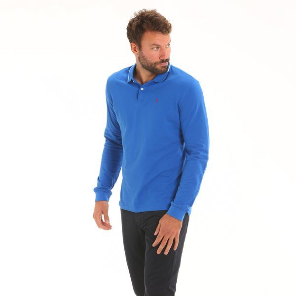 Men polo shirt Stern New long-sleeve in light cotton
