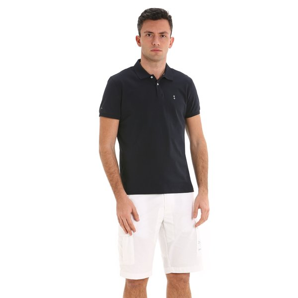 Polo uomo G78 in jersey stretch di cotone organico