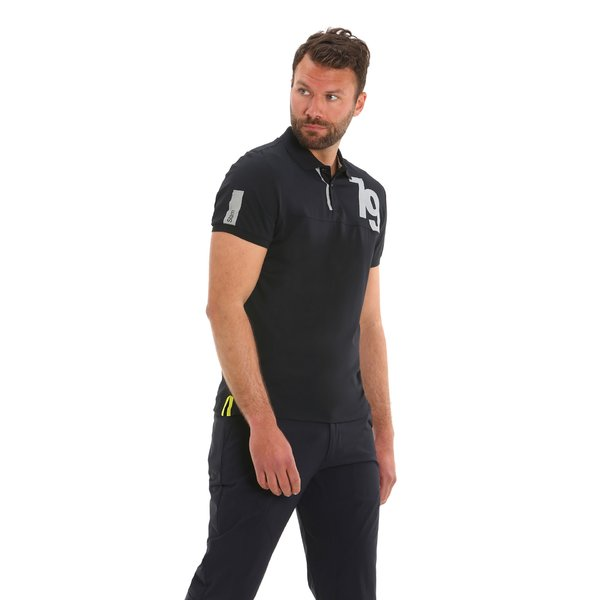 G75 men's short-sleeved polo shirt with neon bands