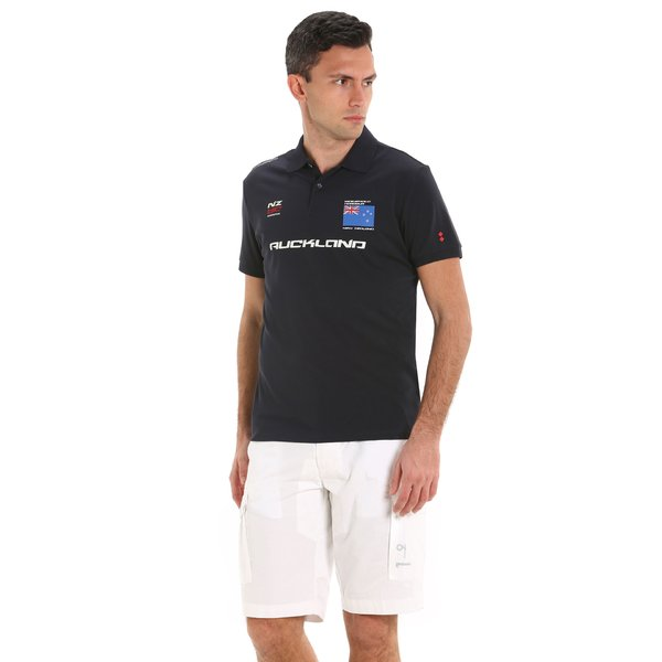 G88 men's short-sleeved polo shirt with sailing prints