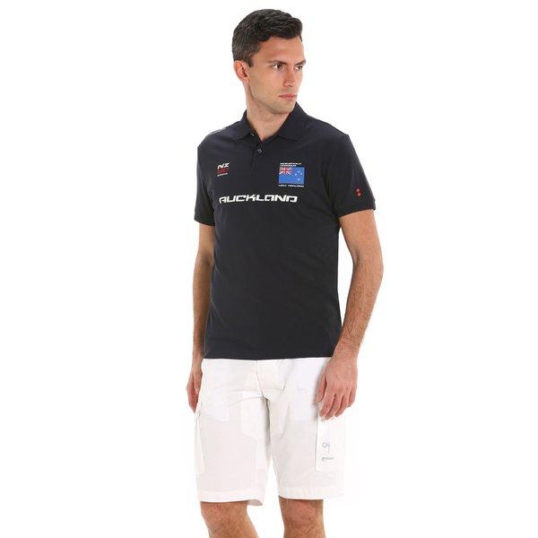 Kurzärmliges Herren-Poloshirt G88 mit Aufdrucken mit Segelmotiv