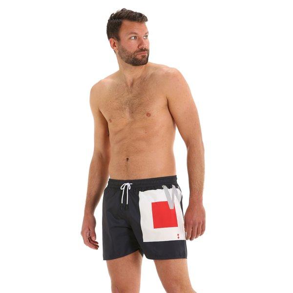Herren-Badehose G167 als Boxershorts mit elastischer Zugkordel