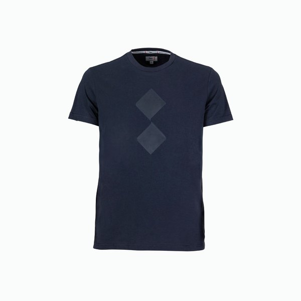 Men's Cutter T-Shirt with ton sur ton logo