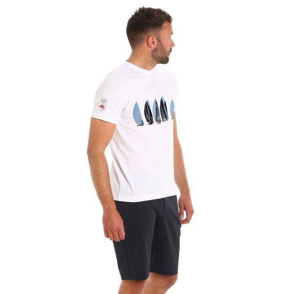 T-Shirt uomo lecanto 2.1 in cotone prelavato Rolex Giraglia