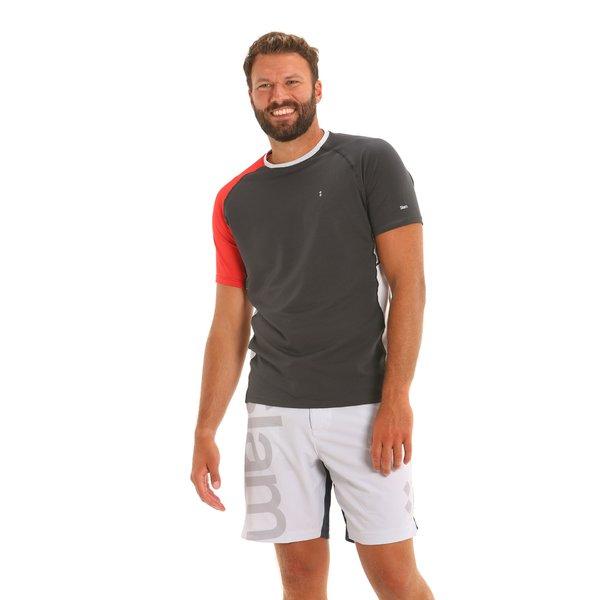 Camiseta para hombre C141 con cuello caja en contraste de color